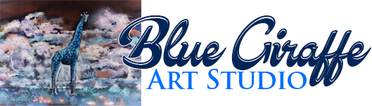 Art Studio Blue Giraffe Logo
